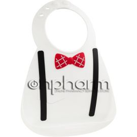 Make My Day Baby Bib Σαλιάρα Σιλικόνης Scholar White