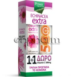 Power Health Echinacea Extra 24 Aναβράζοντα Δισκία + Vitamin C 500mg 20Αναβράζοντα Δισκία