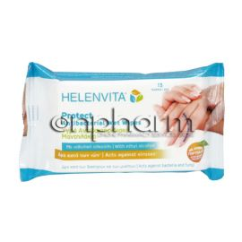 Helenvita Protect Antibacterial Wet Wipes  15Τεμάχια
