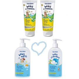Frezyderm Baby Shampoo 300ml+Baby Bath 300ml+ 2x Baby Cream 175ml