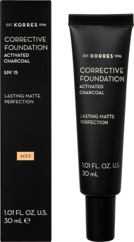 Korres Activated Charcoal Corrective Foundation ACF2 30ml