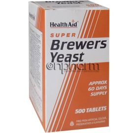 Health Aid Brewers Yeast 300mg 500Ταμπλέτες