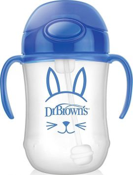 Dr. Brown's Baby's First Straw Cup Blue 270ml
