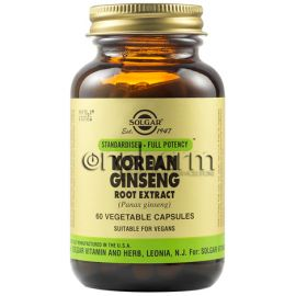 Solgar Korean Ginseng Root Extract  60Φυτικές Κάψουλες