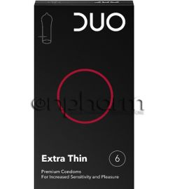 Duo Extra Thin (πολύ λεπτό) Συσκευασία 6Tεμαχίων