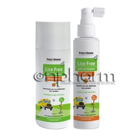 Frezyderm Lice Free Set Shampoo 125ml+Lotion 125ml