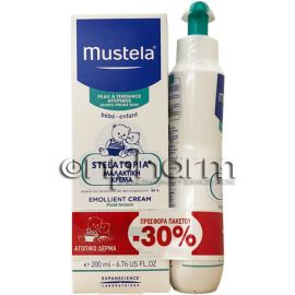 Mustela Promo Stelatopia Emollient Cream 200ml και Mustela Stelatopia Cleansing Cream 200ml -30%