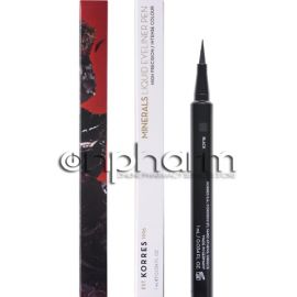 Korres Minerals Liquid Eyeliner Pen 01 Black High Precision Intense Colour 1ml