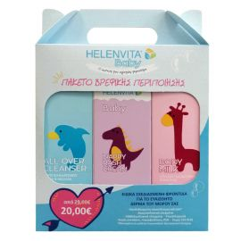 Helenvita Baby Promo Pack Baby Body Milk 200ml & Nappy Rash Cream 150ml & All Over Cleanser 300ml