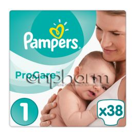 Pampers Procare Premium Protection Νο1 (2-5kg) 38Τεμάχια