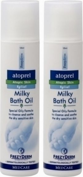Frezyderm Atoprel Milky Bath Oil 2x125ml