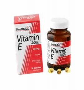 Health Aid Vitamin E 400iu Natural vegetarian 30 caps