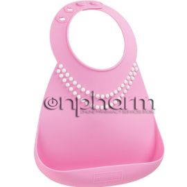 Make My Day Baby Bib Σαλιάρα Σιλικόνης Tiffany Pink Pearls