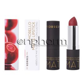 Korres Morello Matte Lipstick  Burgundy Red No59 3.5g