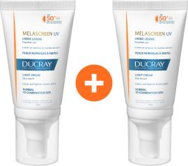 Ducray Promo Melascreen UV Dry Touch Light Cream SPF50+ για Κανονικό - Μικτό Δέρμα 2 x40ml