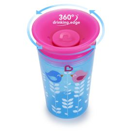Munchkin Miracle 360° Sippy Cup Ροζ Μωβ 296ml