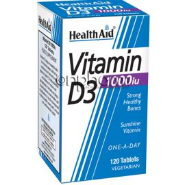 Health Aid Vitamin D3 1000iu 120Ταμπλέτες
