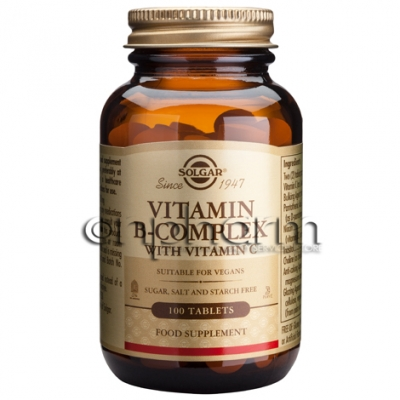 Solgar B-Complex with Vitamin C tabs 100s