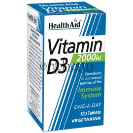 Health Aid Vitamin D3 2000iu 120Ταμπλέτες