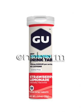 GU Electrolyte Tablets Strawberry Lemonade,12 tabs