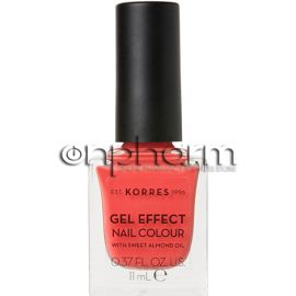 Korres Gel Effect Nail Colour 43 Peach Sorbet 11ml
