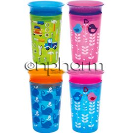 Munchkin Miracle 360° Sippy Cup Πορτοκαλί  Μπλε 266ml