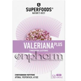 Superfoods Valeriana Plus 50Κάψουλες