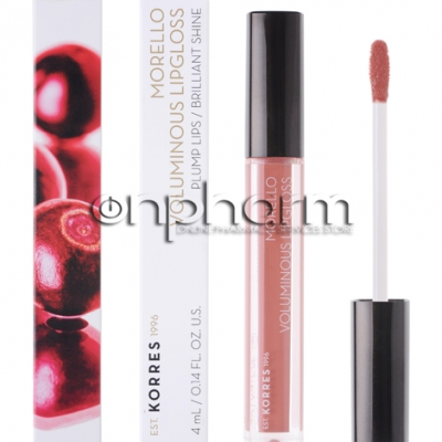 Korres Morello Voluminous Lipgloss 04 Honey Nude 4ml