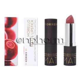 Korres Morello Matte Lipstick Natural Purple No23 3.5g