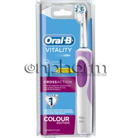 Oral-B Ηλεκτρική Οδοντόβουρτσα Vitality CrossAction Colour Edition Pink