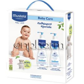 Mustela Promo Gentle Cleansing Gel 500ml & Hydra-Bebe Body Lotion 500ml & ΔΩΡΟ Αρκουδάκι