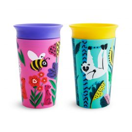 Munchkin 2 Miracle 360° Deco Sippy Cups 266ml - Lemur/ Bee