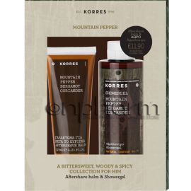 Korres Promo Gift Set Mountain Pepper Aftershave Balm 125ml & Αφρόλουτρο 250ml