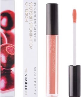 Korres Morello Voluminous Lip Gloss 12 Candy Pink 4ml