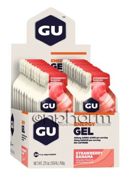 GU Energy Gel 32g Pack 24τεμάχια-Γεύση Strawberry Banana