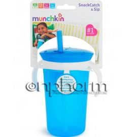 Munchkin Snack and Sip Cup  1Τεμάχιο Μπλε
