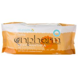 Helenvita Baby Wipes βρεφικά μωρομάντηλα 64Τεμάχια
