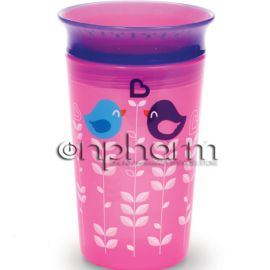 Munchkin Miracle 360° Sippy Cup Ροζ Μωβ 266ml