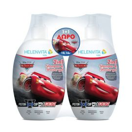 Helenvita Kids Promo 2in1 Shampoo & Shower Gel Cars 2x500ml