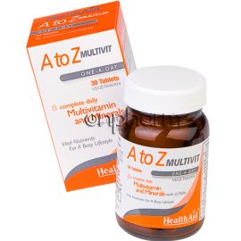 Health Aid A To Z Multivit Lutein 30Ταμπλέτες