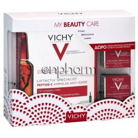Vichy Promo Liftactiv Peptide-C 30Αμπούλες με ΔΩΡΟ 2 Collagen Specialist 15ml