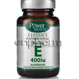 Power Health Platinum Vitamin E 400IU 30κάψουλες