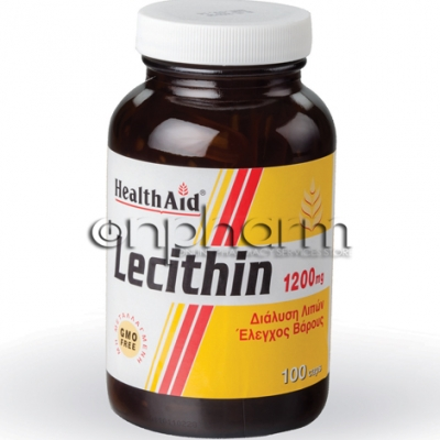 Health Aid Lecithin 1200mg 100Κάψουλες