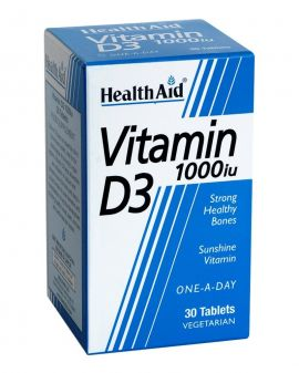 Health Aid Vitamin D3 5000iu 30κάψουλες