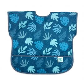 Bumkins Waterproof Junior Bib Blue Tropic 1-3 years 1pack