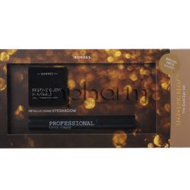 Korres Promo The Gold Eye Set Black Volcanic Minerals Volume Mascara 01 Black 8ml και Eyeshadow Χρυσή 1.5g
