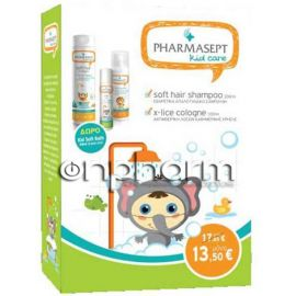 Pharmasept Kid Soft Hair Shampoo 300ml & X-Lice Cologne 100ml & Δώρο Kid Soft Bath 40ml