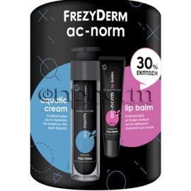 Frezyderm Promo Ac-Norm Aquatic Cream 50ml και Ac-Norm Lip Balm SPF15 15ml με -30% Έκπτωση