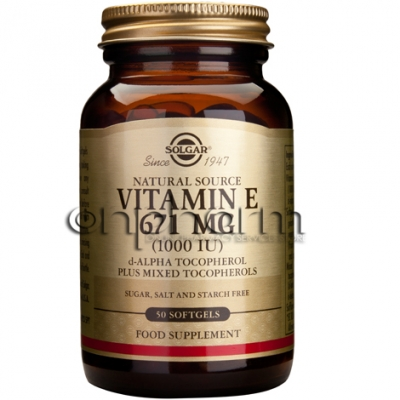 Solgar Vitamin E Natural 1000 IU softgels 50s