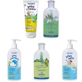 Frezyderm Baby Cream 175ml+ Baby Bath 300ml+Baby Oil 200ml+Baby Milk 200ml +Baby Shampoo 300 ml